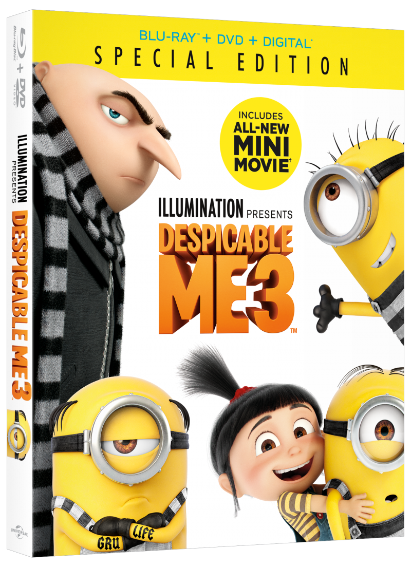 Despicable Me 3 Special Edition On Digital 11/21, Blu-ray 12/5