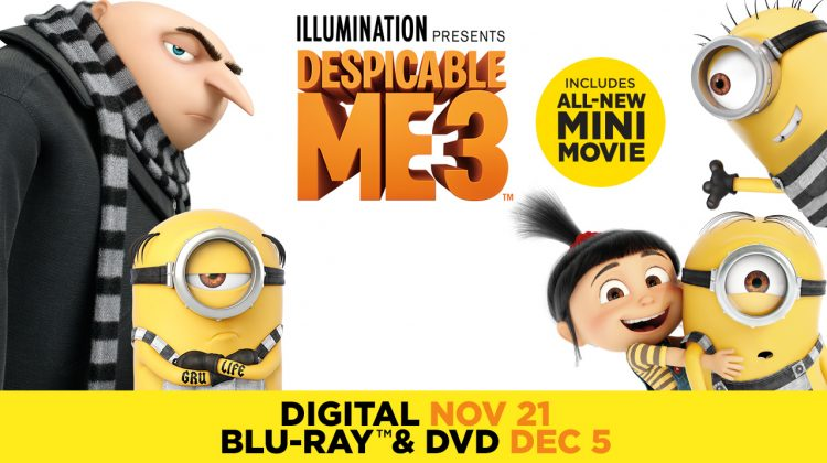 Despicable Me 3 Special Edition On Digital 11/21, Blu-ray 12/5 #DespicableMe3 #DM3Family