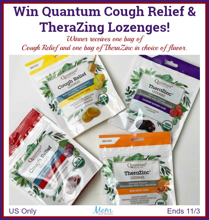 Quantum Cough Relief and TheraZinc Giveaway button