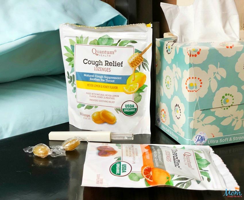 Quantum Health Cough Relief Lozenges and TheraZinc Lozenges