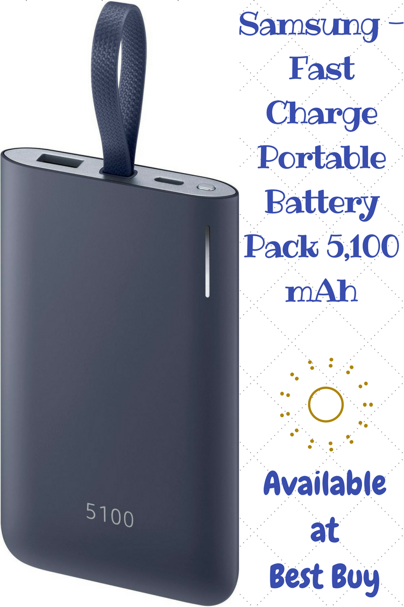 Samsung - Fast Charge Portable Battery Pack 5,100 mAh