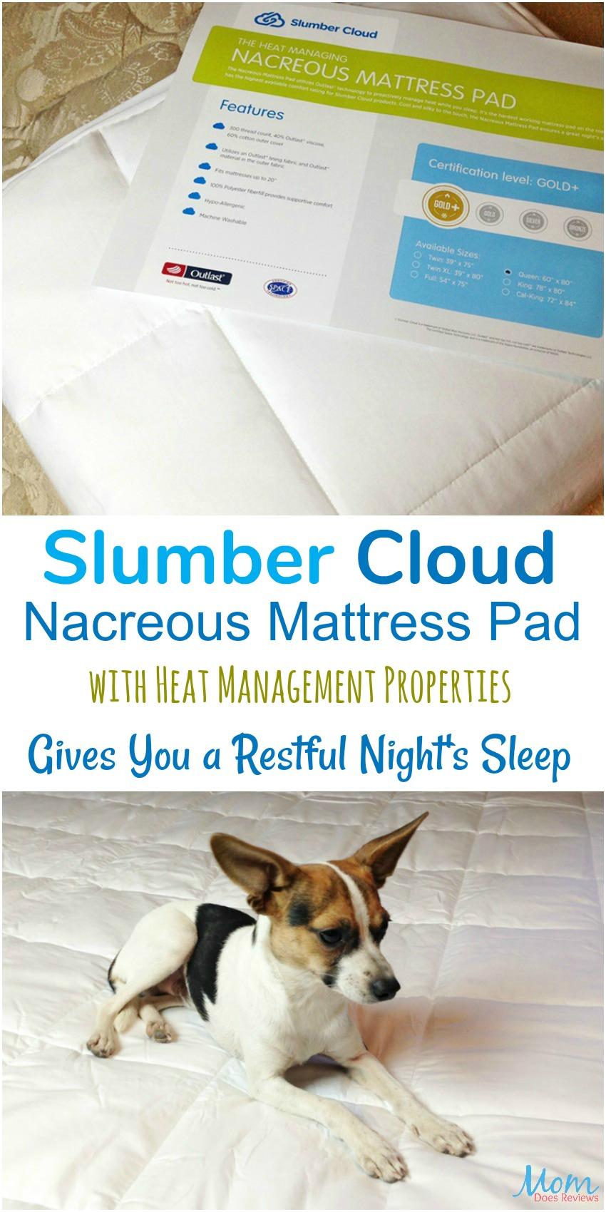 Slumber Cloud Nacreous Mattress Pad With Heat Management