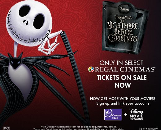 The Nightmare Before Christmas – Returns to Regal Cinemas this Halloween Weekend!!! Tickets Available Now