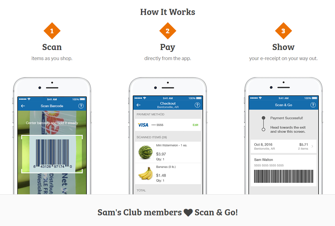Scan and go App