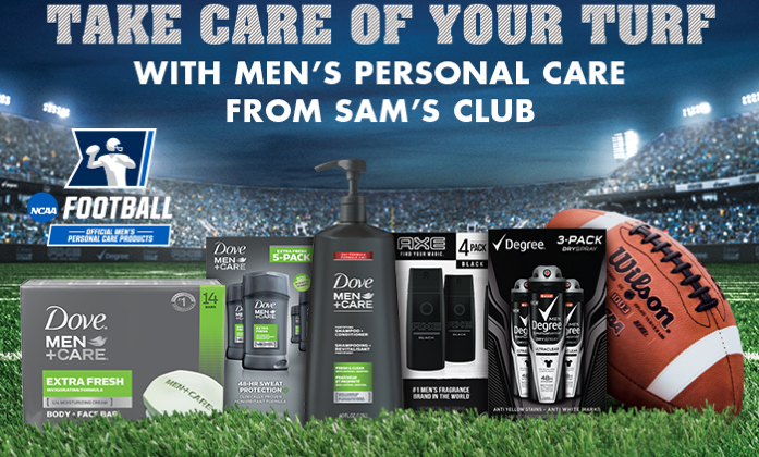 Stock up on  Men's Personal Care Items at #SamsClub to #GetGameDayReady #ad
