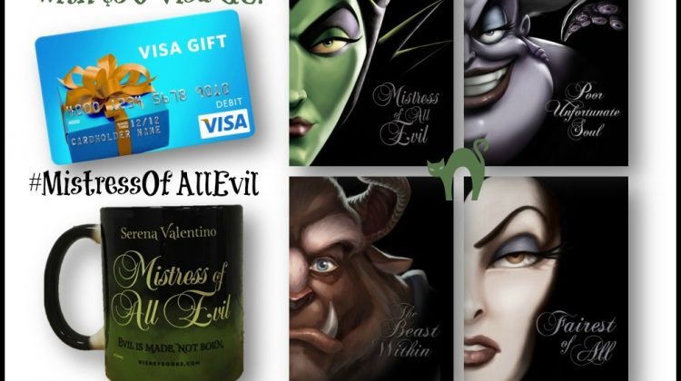 Mistress of All Evil prize pack with $50 Visa GC #MistressOfAllEvil