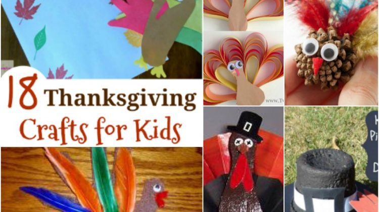 18 Thanksgiving Crafts for Kids they will Love and Enjoy