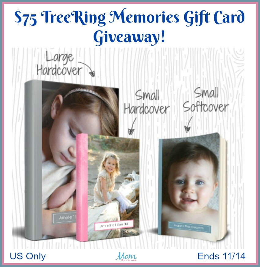 $75 TreeRing Memories Gift Card giveaway button