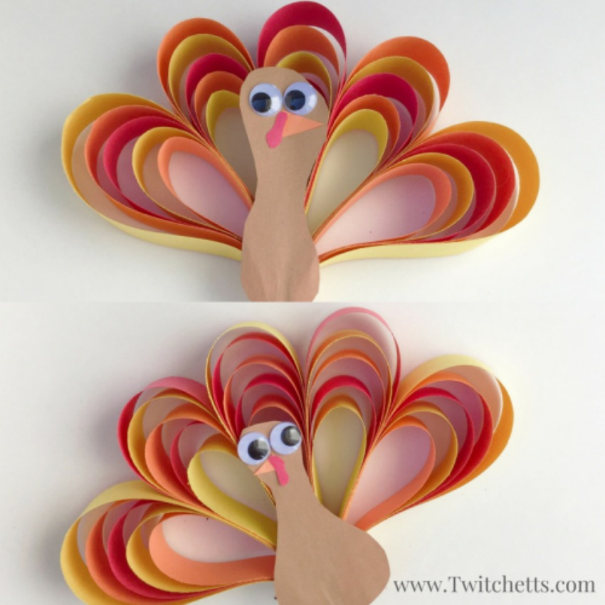 Construction Paper Turkey Craft - Thanksgiving Fun!