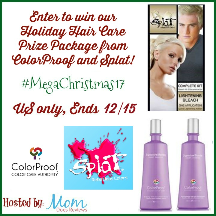 Enter to win our Holiday Hair Care Prize Package from ColorProof and Splat!