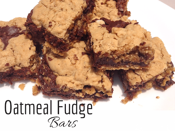 Day 19 of our 30 Days of #ChristmasSweets – Oatmeal Fudge Bars