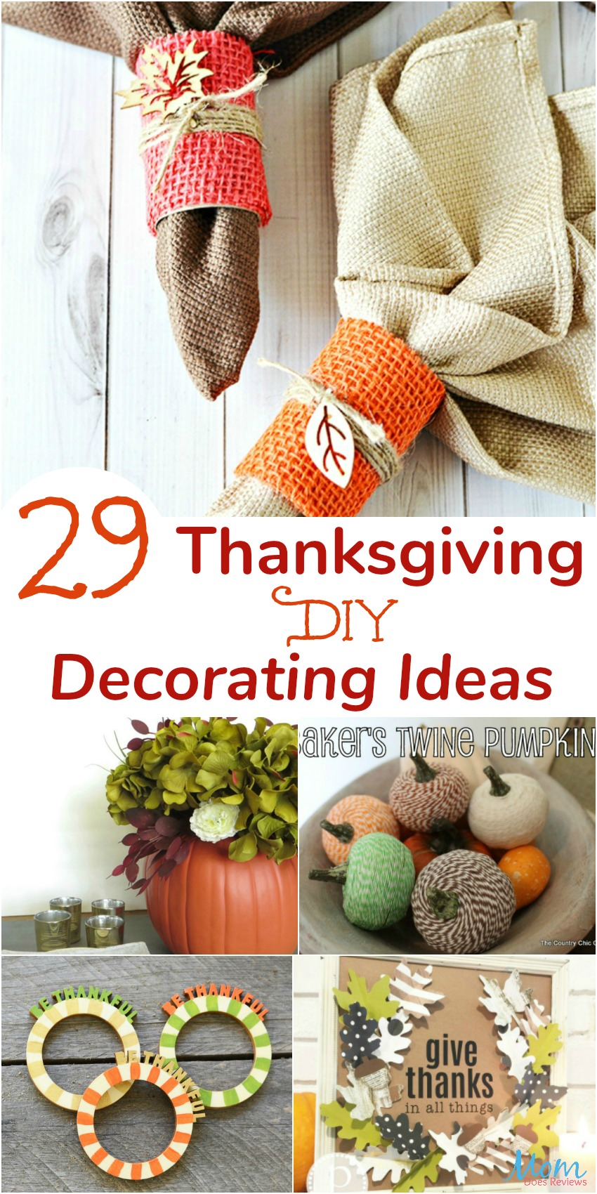 29 Thanksgiving DIY Decorating Ideas
