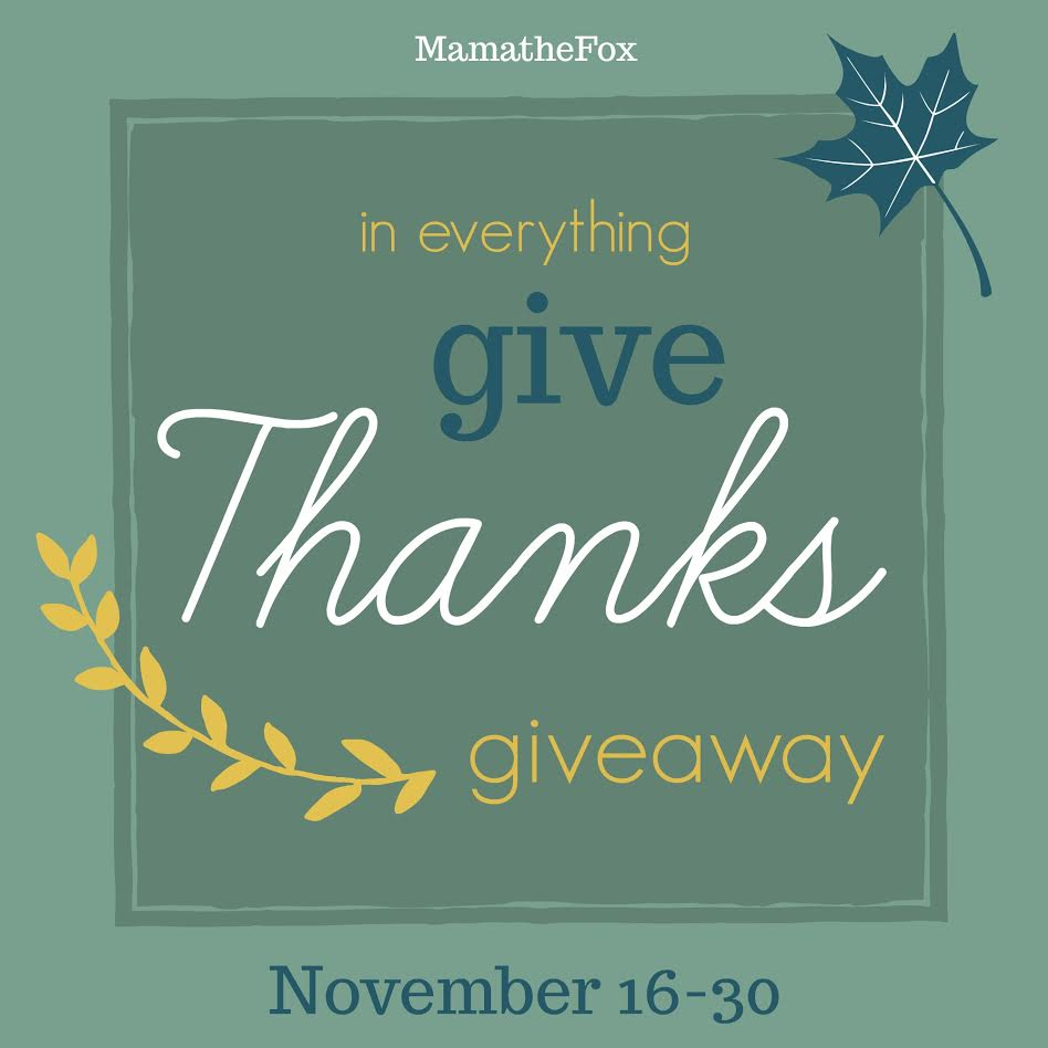 Give Thanks Giveaway Hop