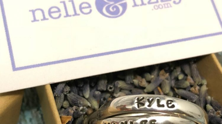 Make her day with a personalized triple ring from Nelle & Lizzy #MegaChristmas17