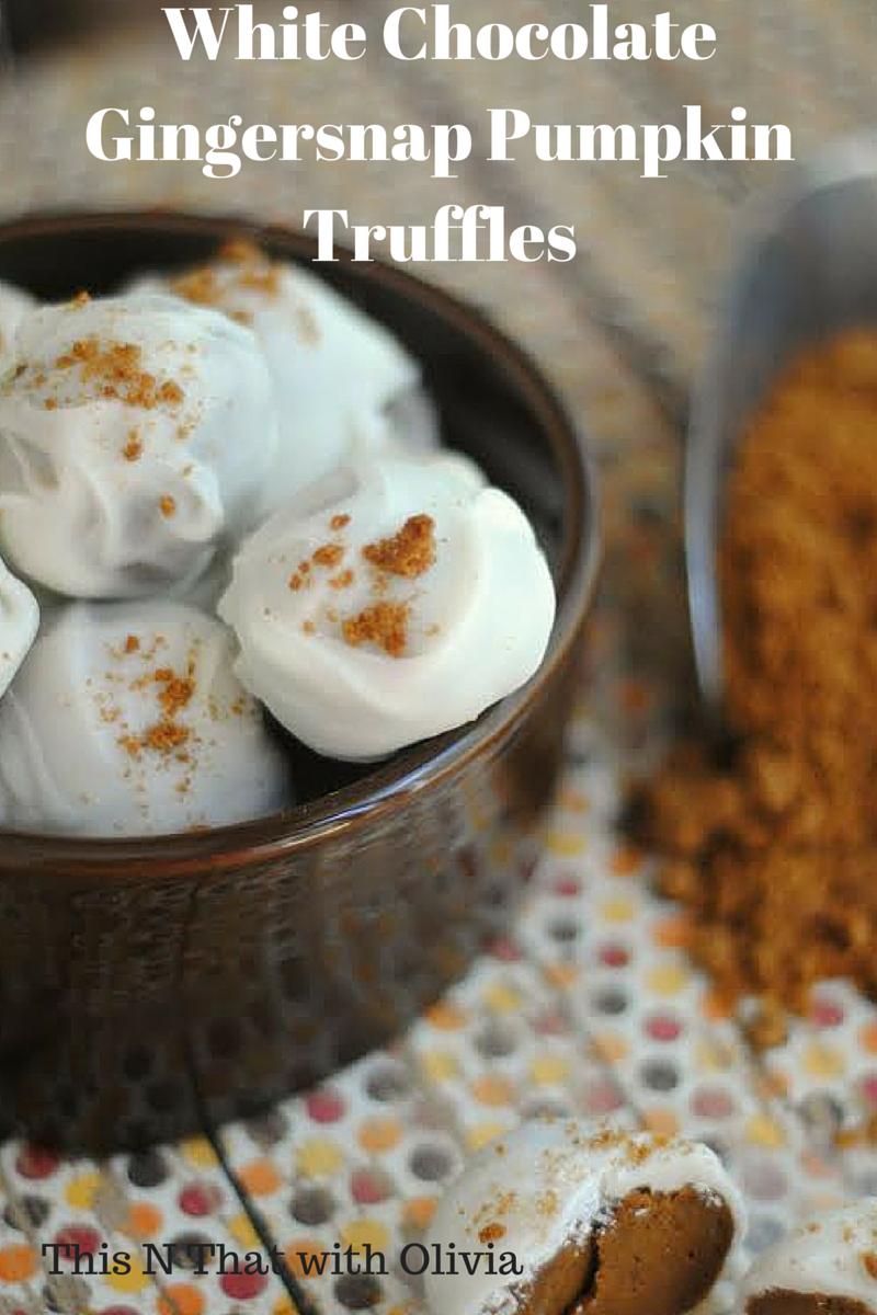 White Chocolate Gingersnap Truffles #ChristmasSweets
