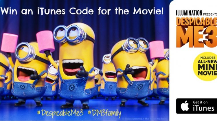 #Win an iTunes Code for #DespicableMe3 Movie! #DM3family