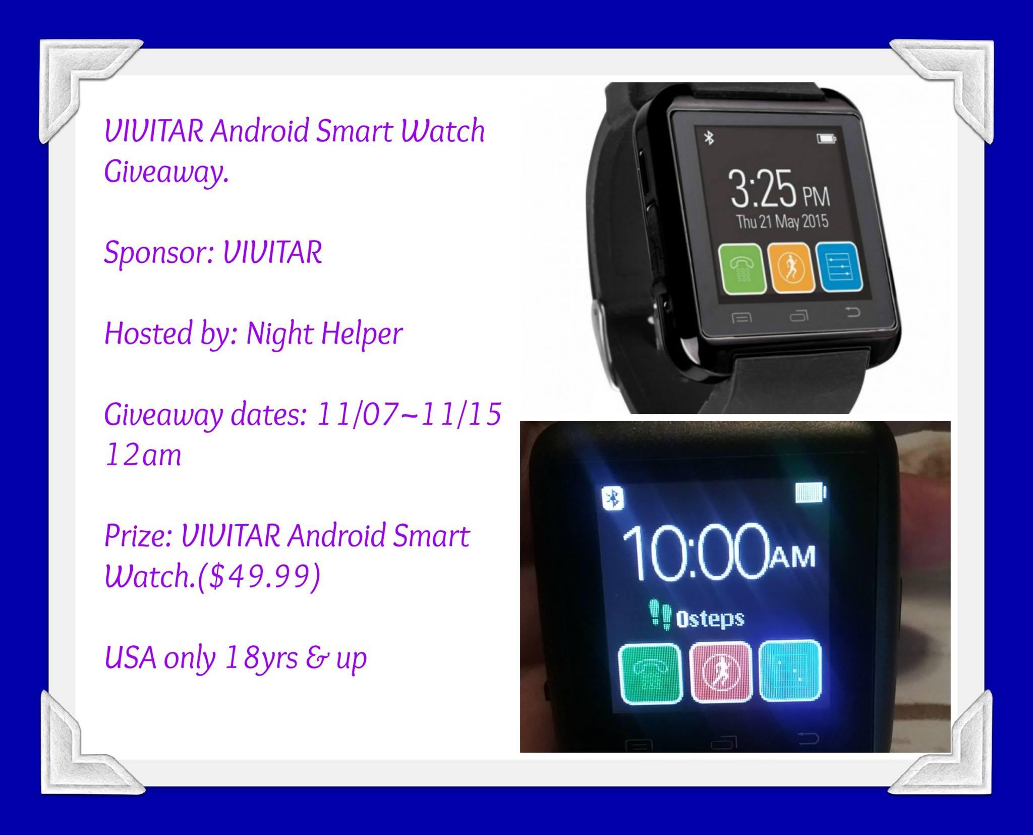 Win a Vivitar Smart Watch