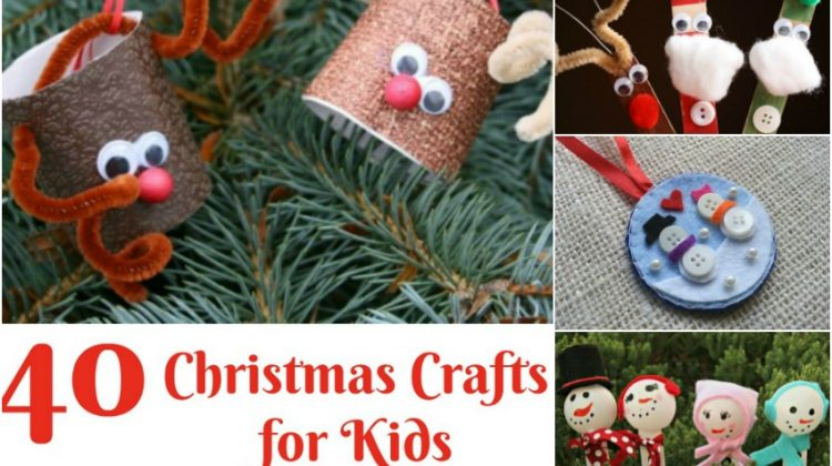 40 Christmas #Crafts for Kids that are Cute, Fun, & Inexpensive!