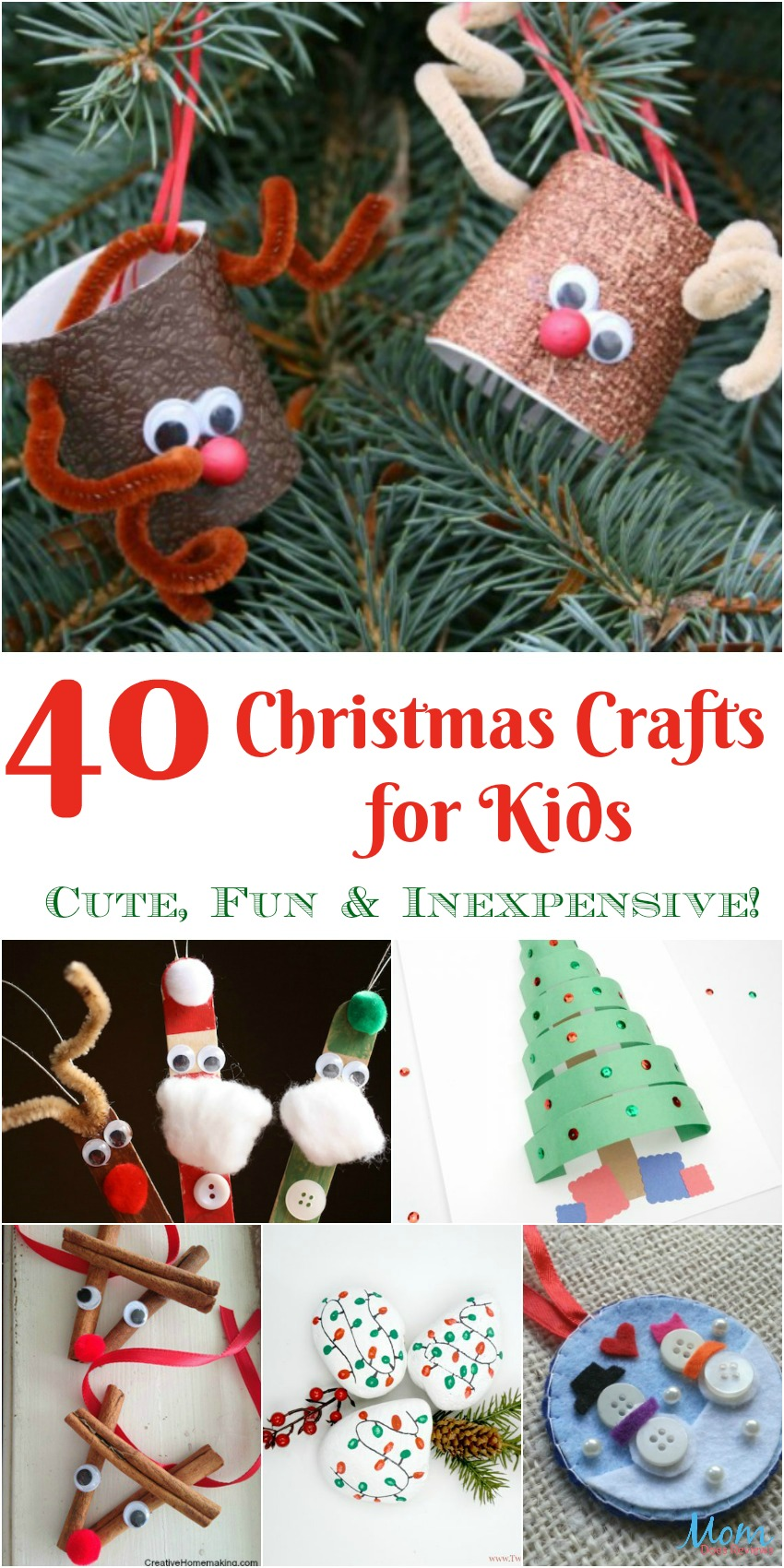 40 christmas crafts for kids that are cute fun for Inexpensive crafts for kids