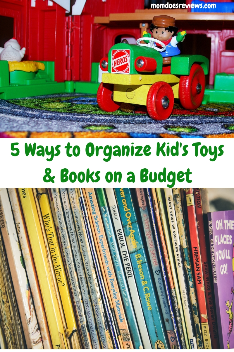 5 Ways to Organize Children's Toys and Books on a Budget #ShopGoodwill