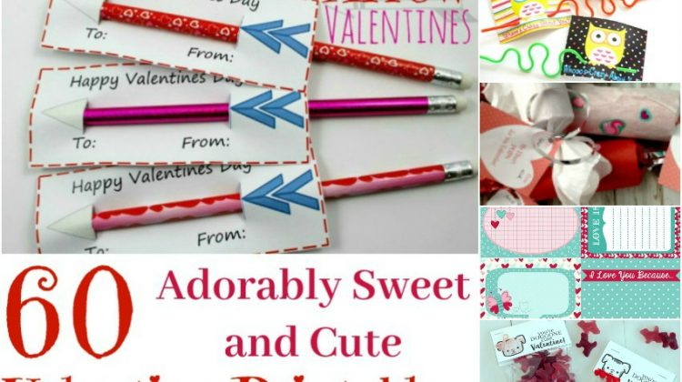 60 Adorably Sweet and Cute Valentine Printables horizontal
