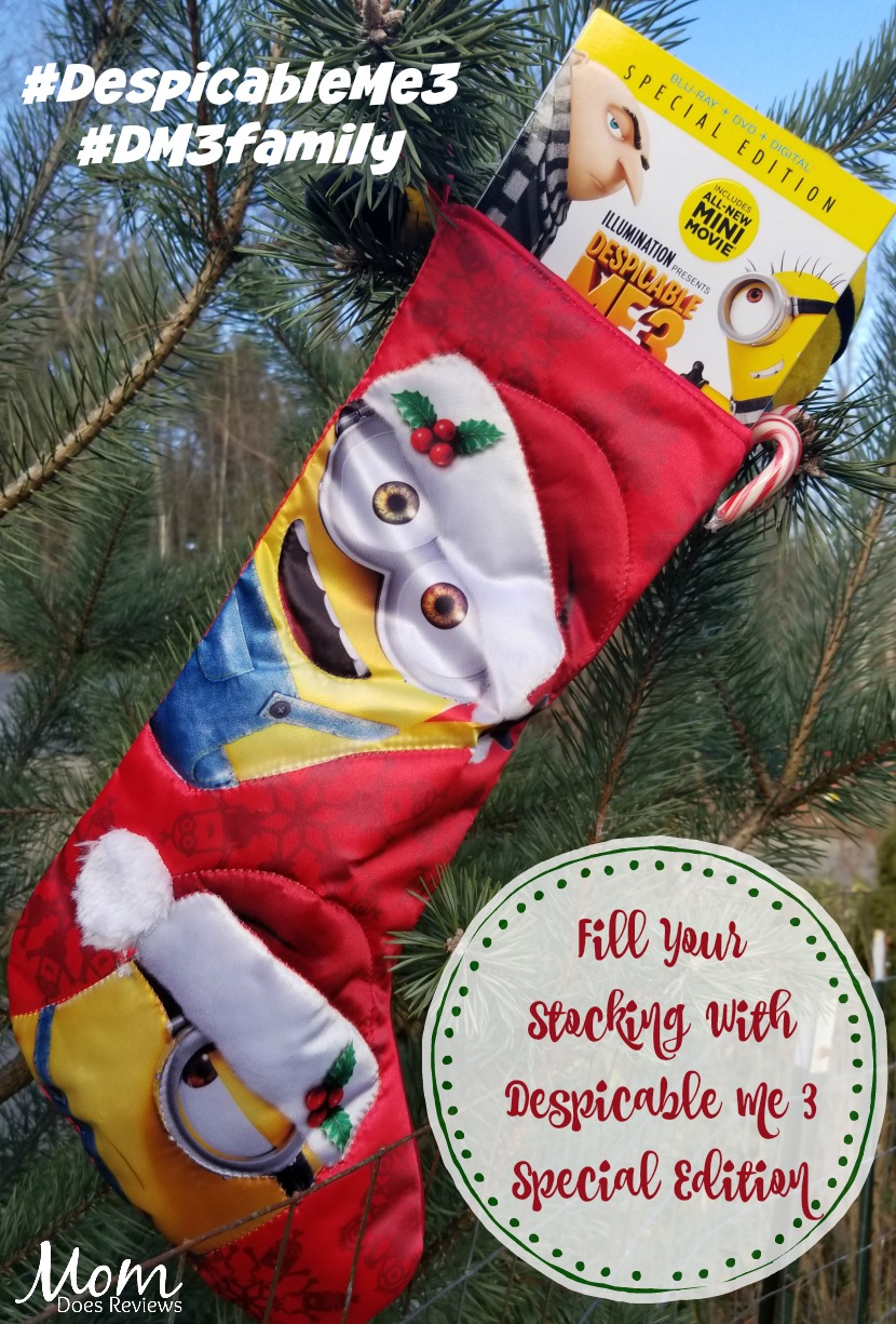 despicable me 3 special edition with an all new mini movie minion moments and - Minion Christmas Stocking