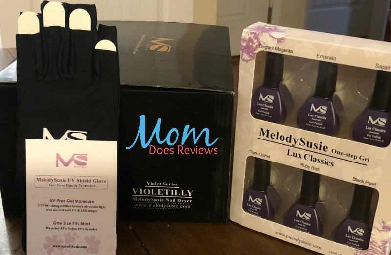 melodysusie violetilly nail dryer gel polish uv gloves
