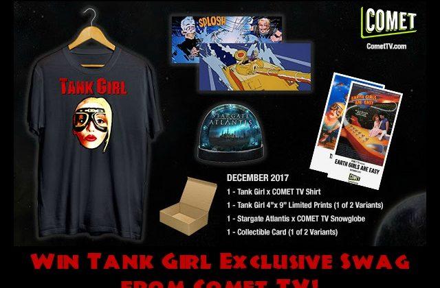 COMET TV December GIVEAWAY: Tank Girl Exclusive Swag