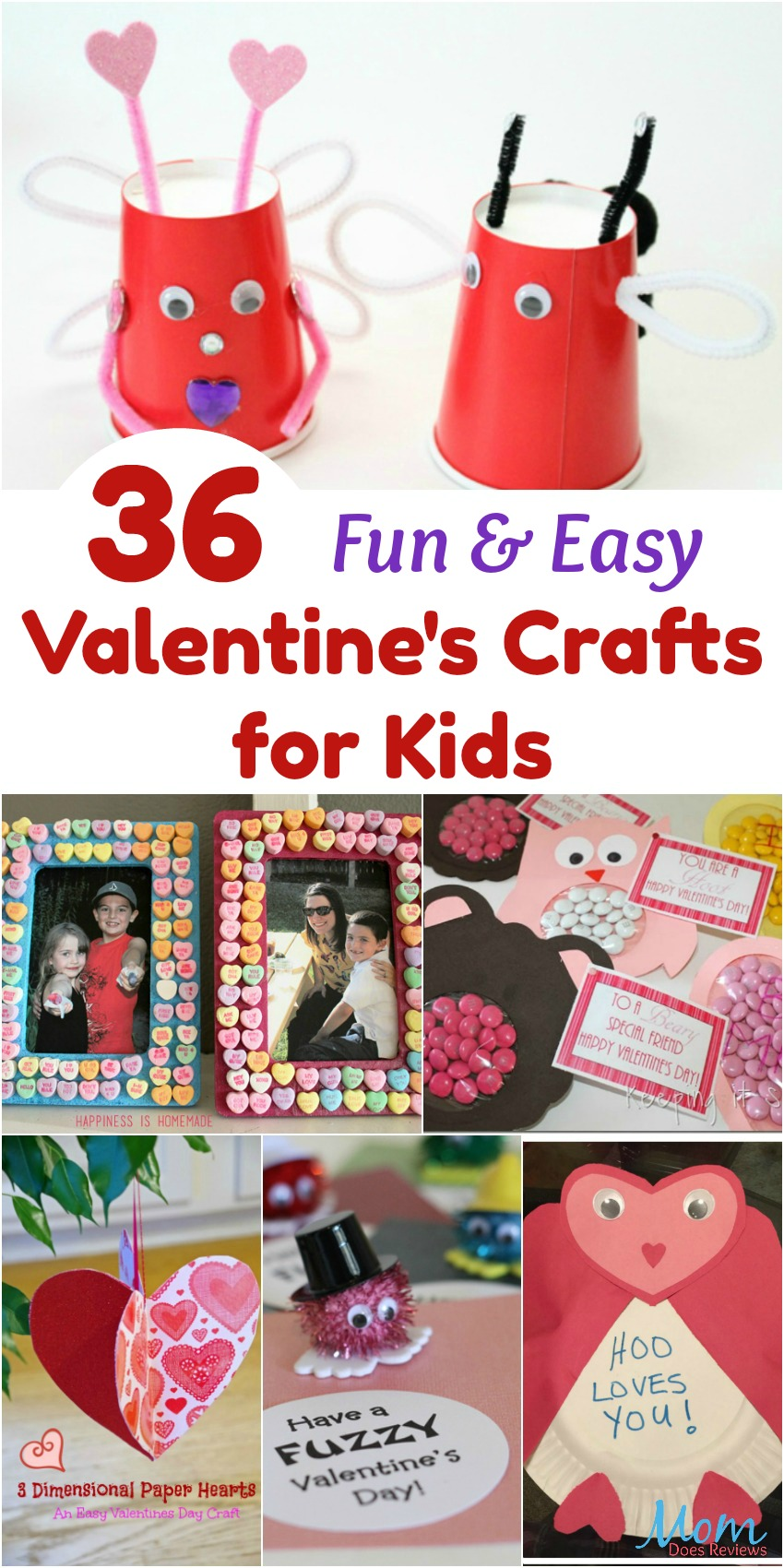 36 Fun U0026 Easy Valentineu0027s Crafts ...