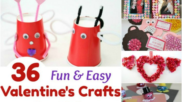 36 Fun & Easy Valentine's Crafts for Kids #Sweet2018