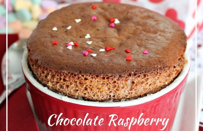 Day 9 of our 14 Days of #ValentinesSweets  –  Chocolate Raspberry Chambord Souffle