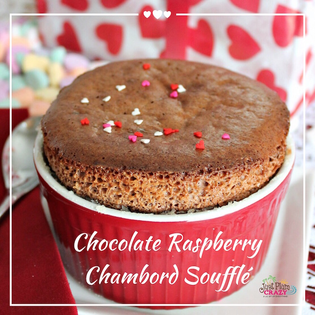 Chocolate Raspberry Chambord Souffle