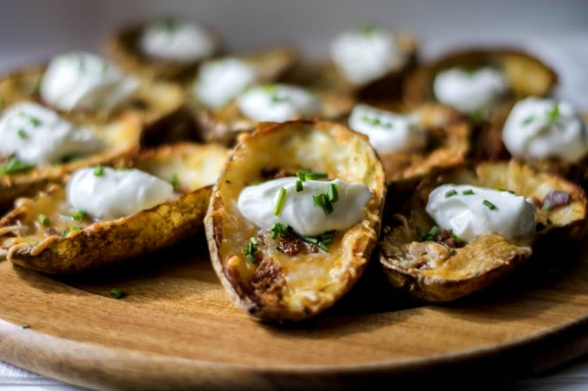 Game Day Bacon and Cheese Potato Skins