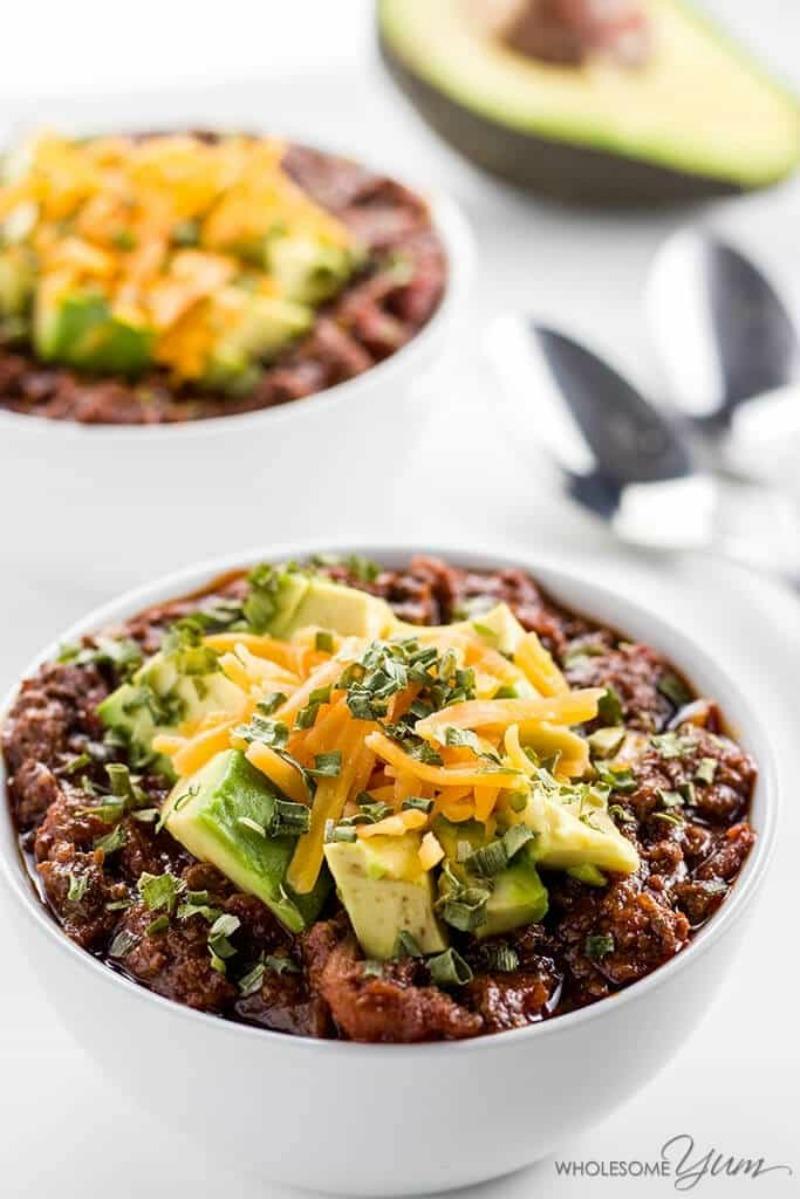 Keto Low Carb Chili Recipe – Crock Pot Or Instant Pot (Paleo)