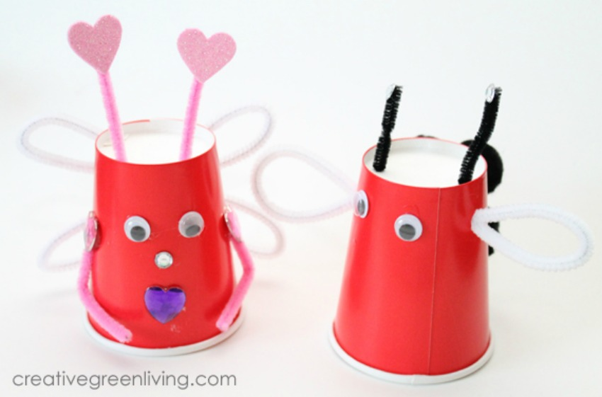 Love Bugs with Recycled Paper Cups