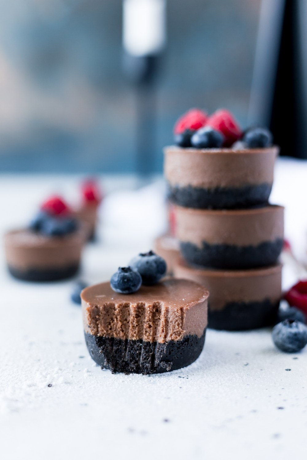 Mini Vegan Chocolate Cheesecake