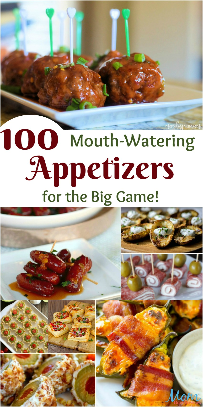 Score Big with these 100 Mouth-Watering Appetizers for the Big Game banner