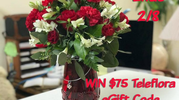 $75 e-code TELEFLORA #Giveaway Ends Feb 8 Open to US & CAN