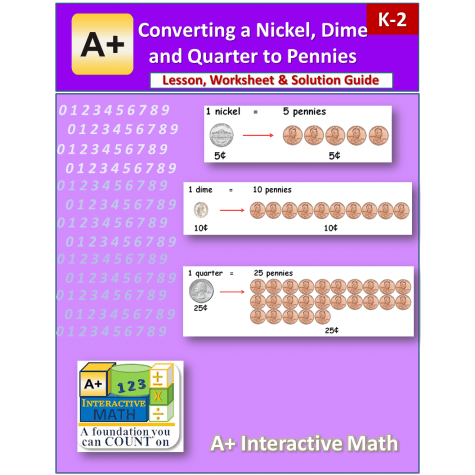 converting money worksheets