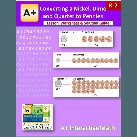 converting money worksheets