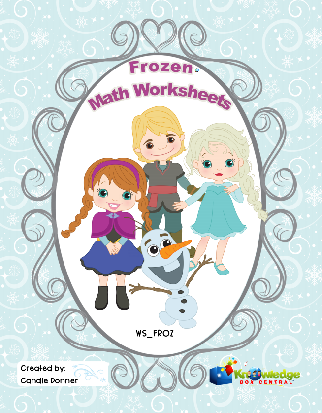Frozen FREE math sheets
