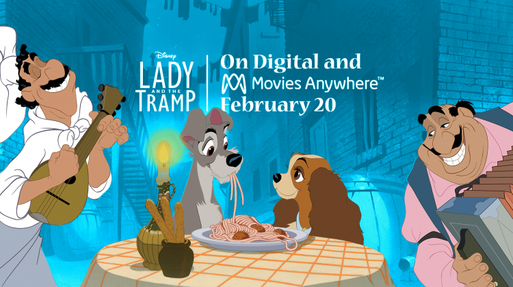 Fall in Love Again with Disney's Lady and The Tramp! On Digital 2/20