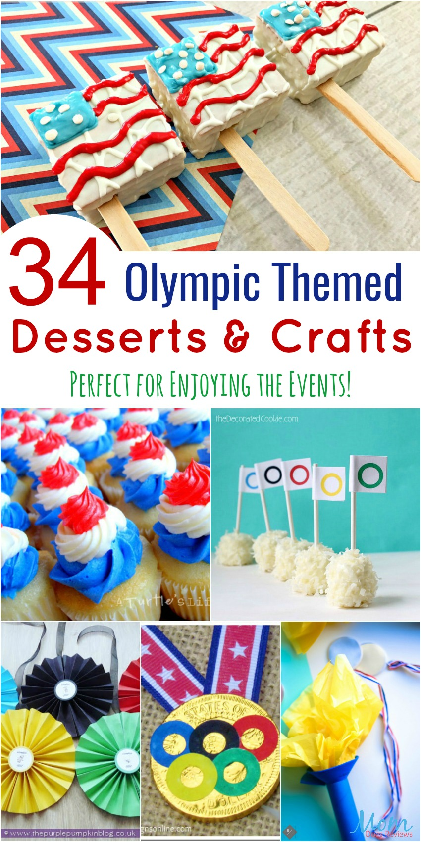 34 Olympic Themed Desserts and Crafts banner