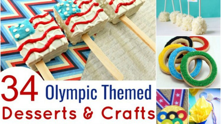 34 Olympic Themed Desserts & Crafts Perfect for Enjoying the Events!