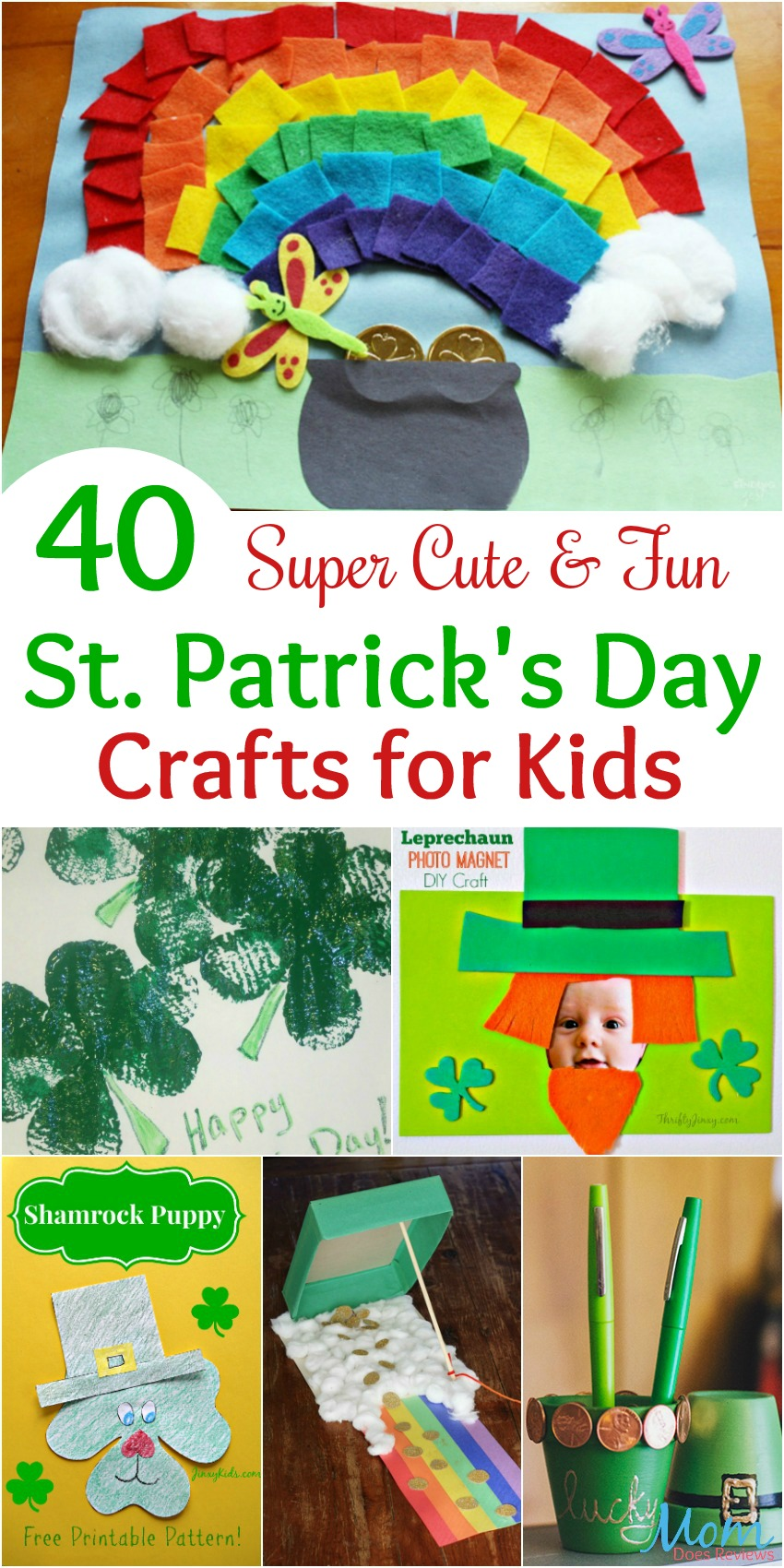40 St. Patrick's Day Crafts for Kids banner