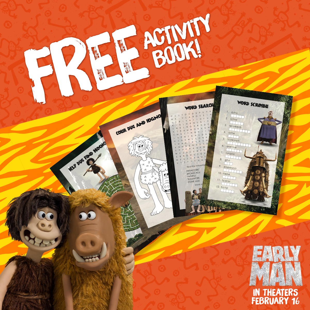 EarlyMan Activity Book
