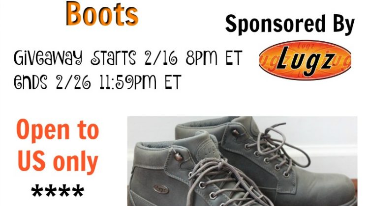 #Win A Pair Of Men's Lugz Boots Open to US Only, ends 2/26 #Sweet2018