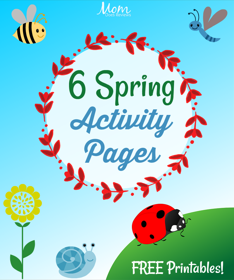 Six Spring Activity Pages #Free #Printables