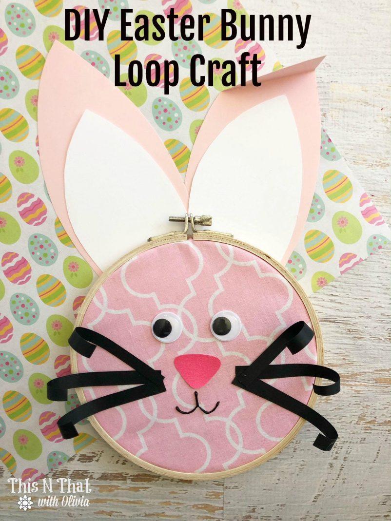 Easter Bunny Loop Craft #EasterSweetsandtreats
