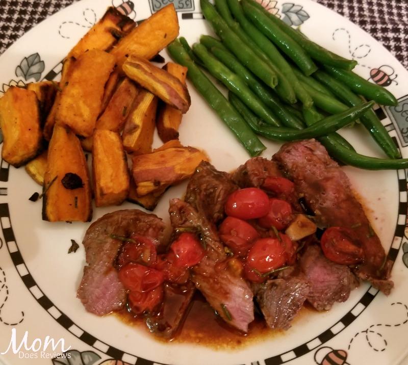 HelloFresh Steak dinner